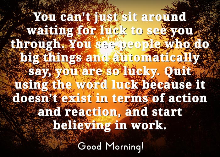 Good Morning Inspirational Quote