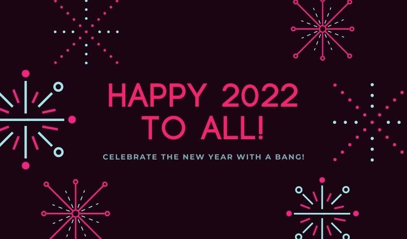 Happy 2022 Greeting Card Images